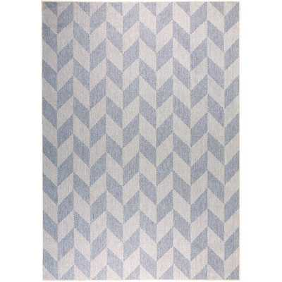Home Dynamix Patio Country Blue Gray 6 ft. 6 in. x 9 ft. 2 in. Indoor/Outdoor Area Rug, Blue/Gray - Home Depot