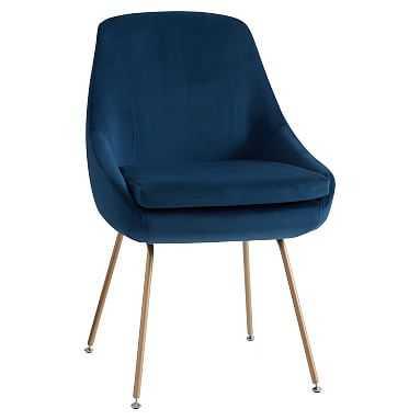 Mathis Chair, Navy Velvet - Pottery Barn Teen
