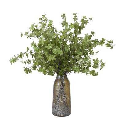 Leafy Foliage Branch in Decorative Vase - Wayfair