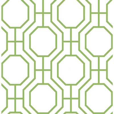 Circuit Green Modern Ironwork Wallpaper - Home Depot