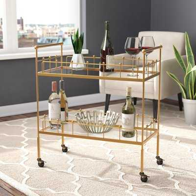 Vadnais 2-Tier Rectangular Bar Cart - AllModern