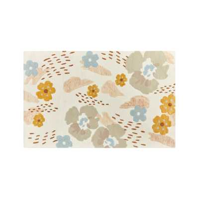 Modern Floral Rug 4'x6' - Crate and Barrel