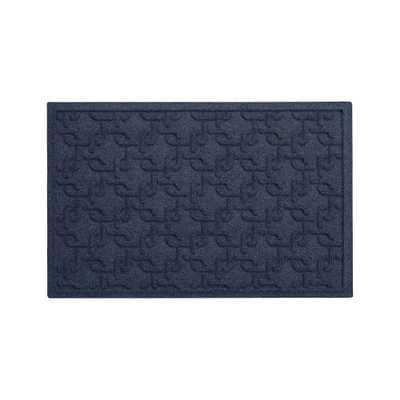 """Thirsty Links Blue Doormat 22""""x34"""" - Crate and Barrel"""