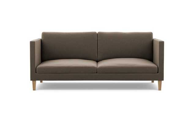 Oliver Sofa with Chestnut Fabric and Natural Oak legs - Interior Define