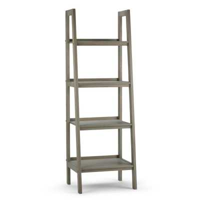 Sawhorse Distressed Grey Ladder Bookcase - Home Depot