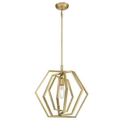 Westinghouse 1-Light Champagne Brass Pendant - Home Depot