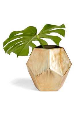Treasure & Bond Medium Geo Metallic Glass Vase, Size One Size - Metallic - Nordstrom