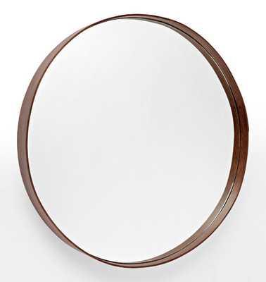 Bentwood Round Walnut Mirror - Rejuvenation