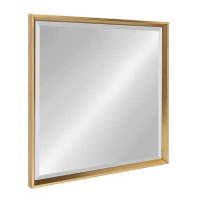 Calder Square Gold Accent Mirror - Home Depot
