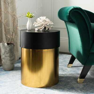 Solstice Black and Gold Side Table, Black/Gold - Home Depot