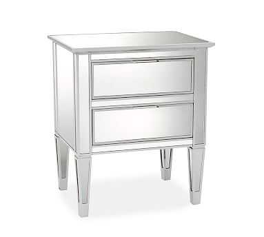 Park Mirrored Bedside Table, Champagne finish - Pottery Barn