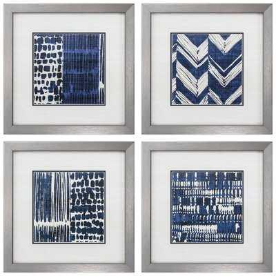 'Indigo Batik' Framed Graphic Art Set - AllModern