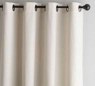 "Wheaton Stripe Drape, 50 x 96"", Neutral - Pottery Barn"