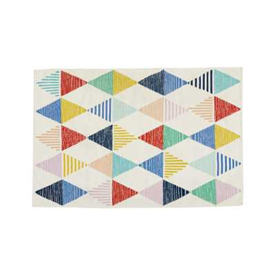 Colorful Triangle 8 x 10' Rug - Crate and Barrel