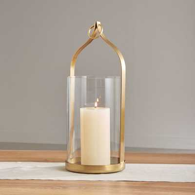 "Priya 20"" Brass Lantern - Crate and Barrel"