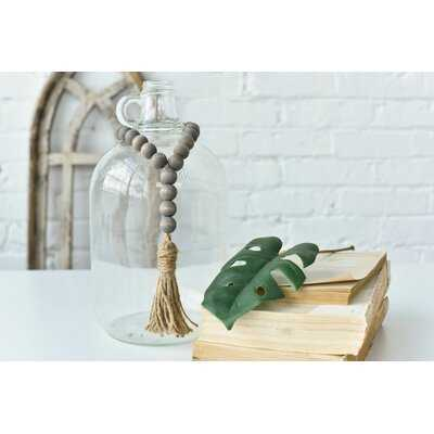 Archie Weathered Wood Bead Loop - Wayfair