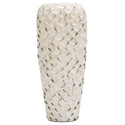 Zaire Abalone Shell Ceramic Floor Vase - Wayfair