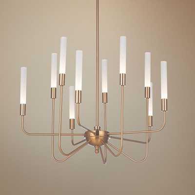 "Craftmade Valdi 26 1/2""W Satin Brass 10-Light LED Chandelier - Style # 65F77 - Lamps Plus"