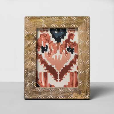 "Carved Wood Dot Pattern Frame 5""x7"" - Opalhouse - Target"