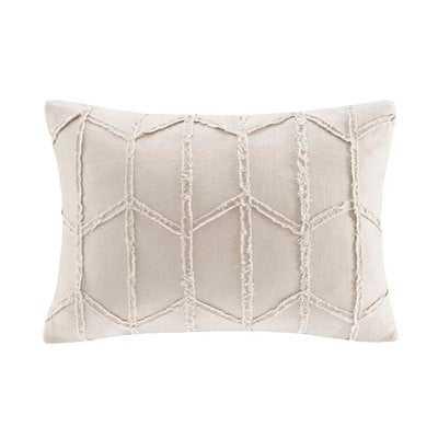 Frayed Geo Linen Lumbar Pillow - Wayfair