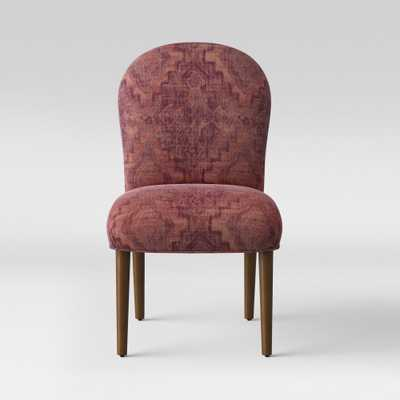 Caracara Rounded Back Dining Chair Pink Woven Design - Opalhouse, Pink Textured Woven - Target