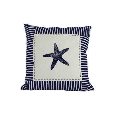 Starfish Nautical Stripes Throw Pillow - Wayfair
