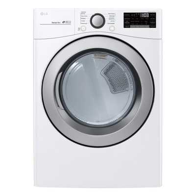 LG Electronics 7.4 cu.ft. Ultra Large Capacity Electric Dryer with Sensor Dry, and Wi-Fi connectivity in White - Home Depot