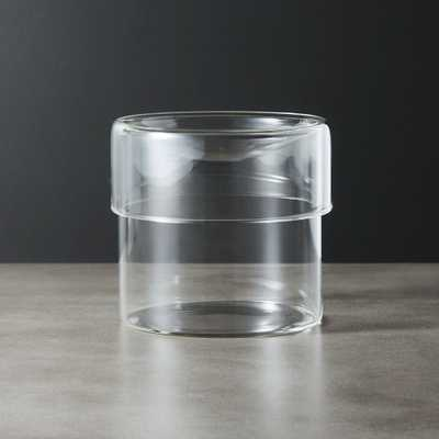 Dawson Small Round Glass Canister - CB2