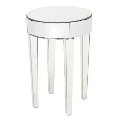 Curry Mirrored End Table - Wayfair