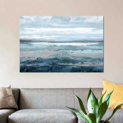 'Aqua in Motion' Print on Canvas - Wayfair