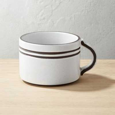 Pitch White Mug - CB2