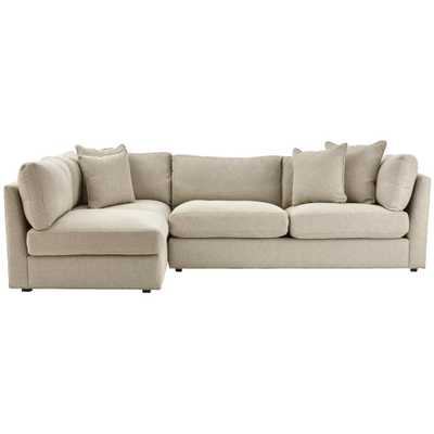 Griffith Sugar Shack Putty 2-Piece Sectional - Home Depot