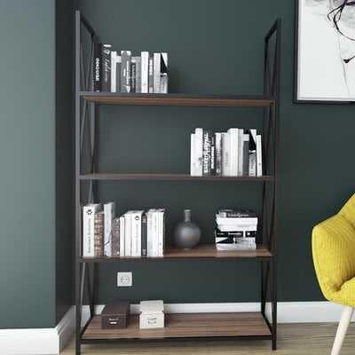 Altom X-Frame Metal Industrial 4-Tier Etagere Bookcase - Wayfair