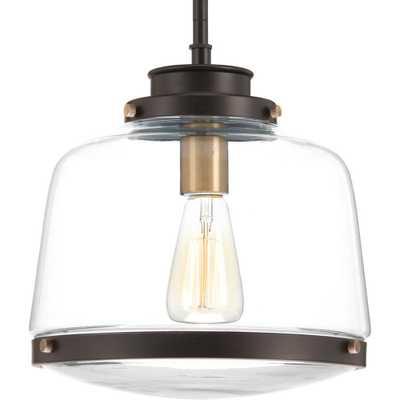 Progress Lighting Judson Collection 1-Light Antique Bronze Pendant - Home Depot