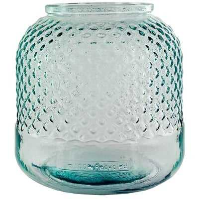 Fuente Diamond Recycled Glass Table Vase - Wayfair