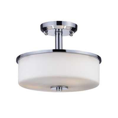 Filament Design Lawrence 3-Light Chrome Incandescent Ceiling Flushmount - Home Depot