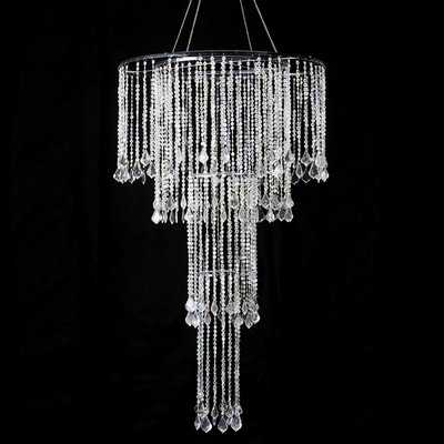 Bergstrom Iridescent Diamond Cut Bead Cascade Crystal Chandelier - Wayfair