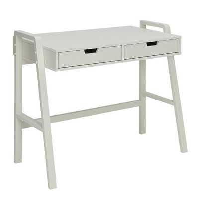 Charles Polar White Small Office Desk - Home Depot
