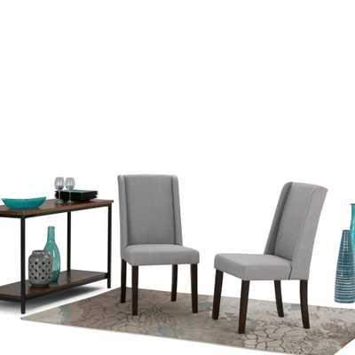 Sotheby Dove Grey Dining Chair (Set of 2), Dove Grey Linen Look - Home Depot