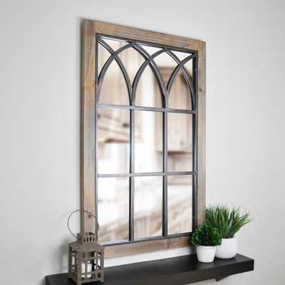 Grandview Arched Window Decorative Mirror - Home Depot