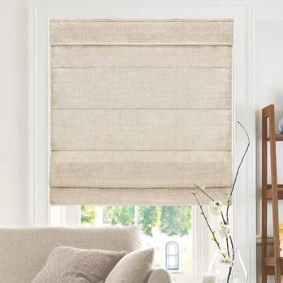 Chicology Cut-to-Width Flax Cordless Fabric Roman Shade - 47 in. W x 64 in. L, Belgian Flax (Privacy & Light Filtering) - Home Depot