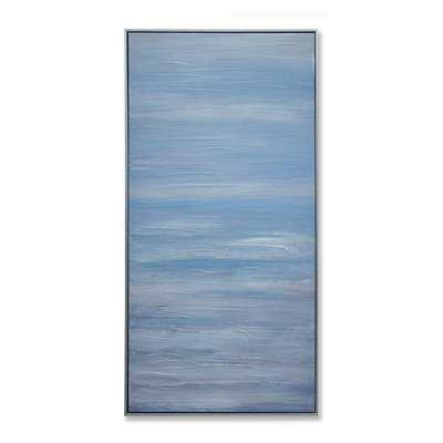 'Blue Sky Abstract' Framed Graphic Art Print on Canvas - Birch Lane
