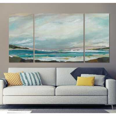 A Premium Seaside View III Graphic Art Print Multi-Piece Image on Wrapped Canvas - Wayfair