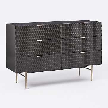 Audrey 6-Drawer Dresser, Charcoal - West Elm