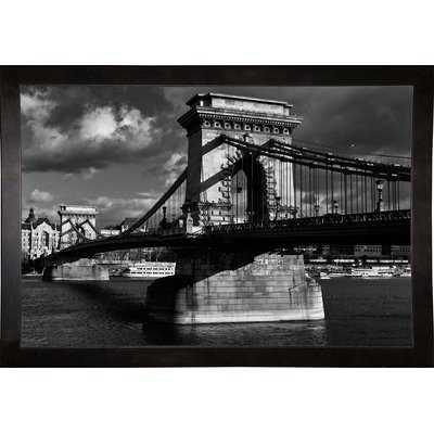 'Budapest Chain Bridge Black and White' Photographic Print - Wayfair