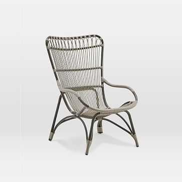 Outdoor Alu-Rattan Highback Chair - West Elm