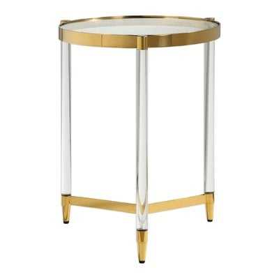 Sudie Glass End Table - Wayfair