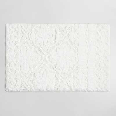 White Tufted Tile Bath Mat by World Market - World Market/Cost Plus