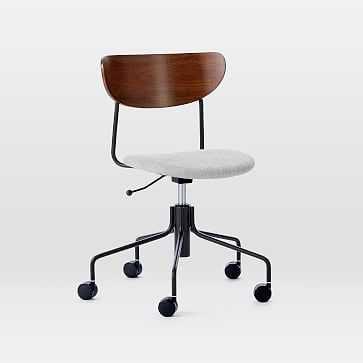 Petal Office Chair, Basket Slub, Antique Bronze - West Elm