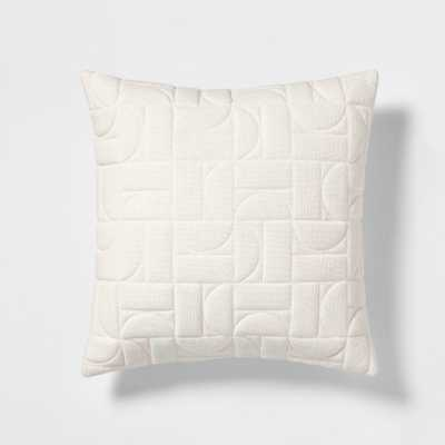 Quilted Geo Square Throw Pillow White - Project 62 - Target
